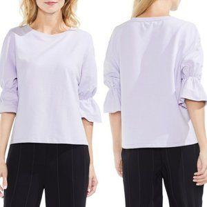 Vince Camuto Lavender Bell Sleeve Sweatshirt Top L
